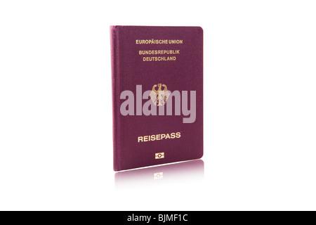Passports, European Union Federal, Republic of Germany - Stock Photo