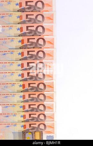 50 euro banknotes, bills - Stock Photo