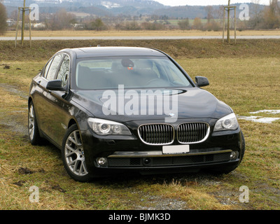 BMW 730d Sedan, F01 type code, with head-up display, HUD, navigation, driver assistance systems, such as distance - Stock Photo