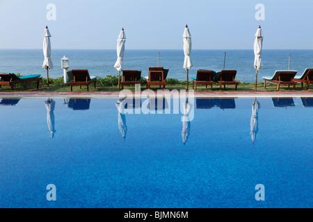 Swimming pool, Bethsaida Hermitage near Kovalam, Kerala, southern India, India, Asia - Stock Photo