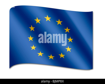 Flag of Europe, EU - Stock Photo