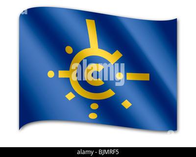 Flag of Central European Free Trade Agreement, CEFTA - Stock Photo