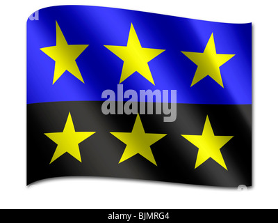 Flag of the European Coal and Steel Community - Stock Photo