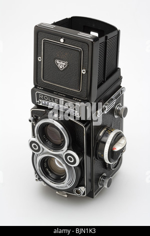 Rolleiflex 3.5f classic twin lens reflex camera - Stock Photo