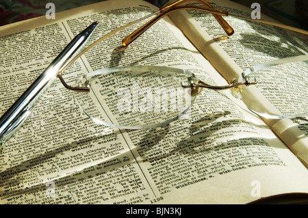 dictionary of words.book of  words,education - Stock Photo