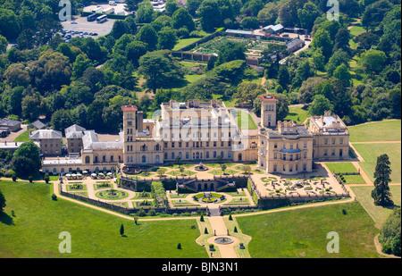 Aerial, Osborne House, East Cowes, Isle of Wight, England - Stock Photo