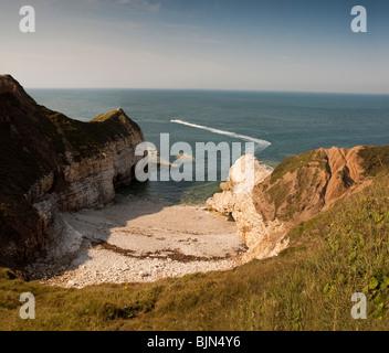 Thornwick Bay, Flamborough East Yorkshire - Stock Photo