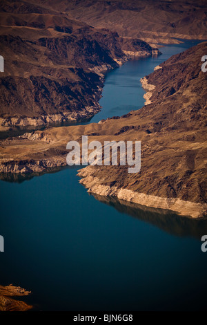 Aerial view of Bonelli Bay on Lake Mead National Recreation Area, Arizona.  - Stock Photo