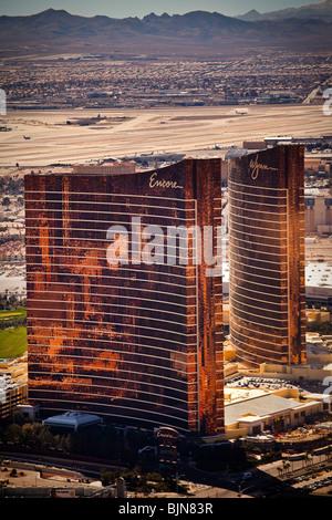 Aerial view of Las Vegas, Nevada - Stock Photo