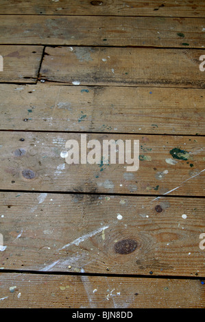 Old wooden floorboards - Stock Photo