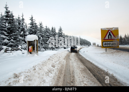 A lay by on the A9 road, near the Slochd summit, Invernesshire, Highland Region, Scotland, UK - Stock Photo