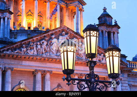 Decorative streetlighting outside the Belfast City Hall Northern Ireland - Stock Photo & Decorative streetlighting outside the Belfast City Hall Northern ... azcodes.com