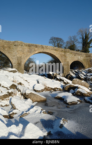 Devils's Bridge across the River Lune at Kirkby Lonsdale in Cumbria UK - Stock Photo
