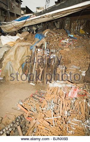 Tools at a scrapyard - Stock Photo