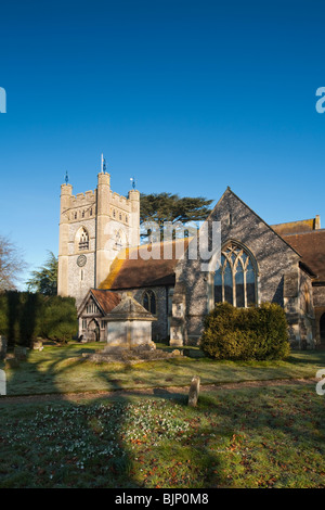 Church of St Mary the Virgin in Hambleden Village near Henley on Thames, Oxfordshire, Uk - Stock Photo