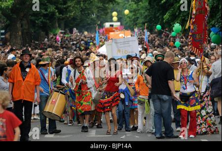 Karneval der Kulturen, Carnival of Cultures, Berlin, Kreuzberg district, Germany, Europe - Stock Photo