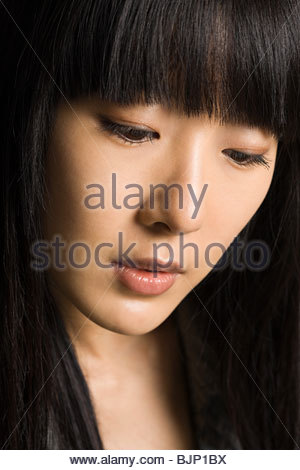 Face of a young woman - Stock Photo