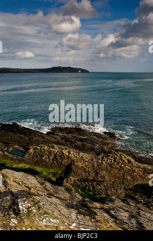 The entrance to Falmouth Harbour in Cornwall.  Photo by Gordon Scammell - Stock Photo