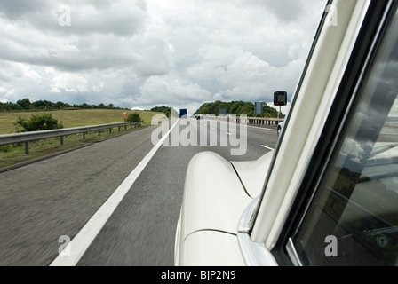 Car on the motorway - Stock Photo