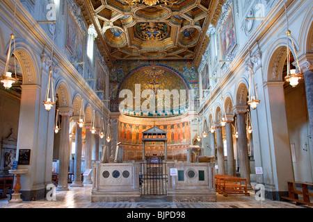 San Clemente Basilica, Rome - Stock Photo
