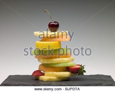 Stack of fruit slices - Stock Photo
