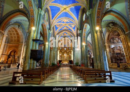 Santa Maria Sopra Minerva Basilica, Rome, Italy - Stock Photo