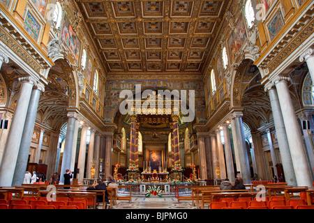Basilica di Santa Maria Maggiore, Rome - Stock Photo
