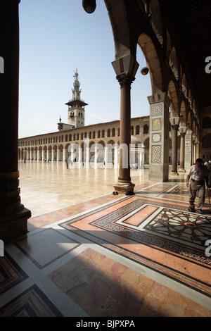 Portico of the Umayyad Mosque, Damascus, Syria - Stock Photo