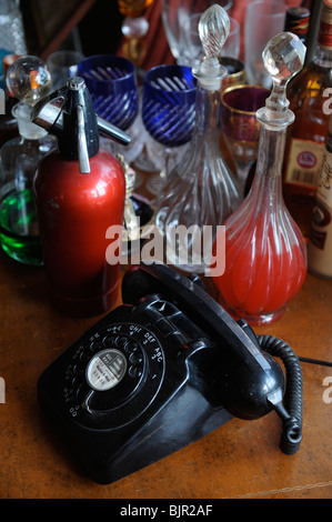 A Retro telephone popular from the late sixties to early eighties in the UK - Stock Photo