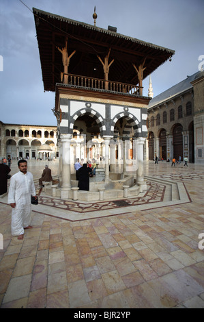 Courtyard of the Umayyad Mosque, Damascus, Syria - Stock Photo