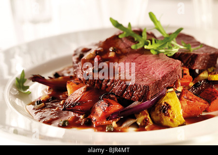 steak and wine pepper sauce food photos and images - Stock Photo