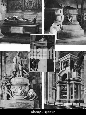 'Britain's glorious dead honoured by tomb and monument in St Paul's Cathedral', 1926-1927. Artist: Unknown - Stock Photo