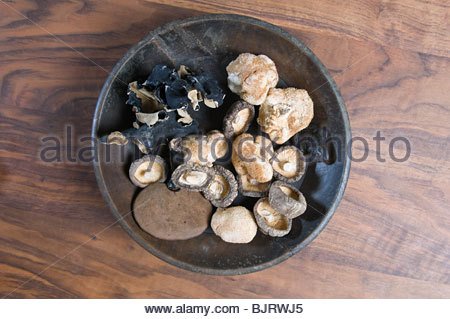 Dried mushrooms - Stock Photo