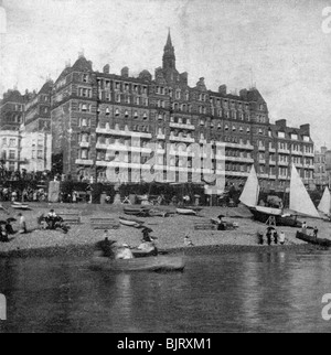 The Metropole Hotel, Brighton, East Sussex, late 19th century. Artist: Unknown - Stock Photo