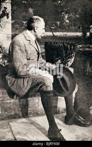 Sir Edward William Elgar, 1857-1934. English composer. - Stock Photo