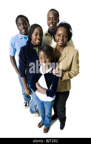 African-American family portrait - Stock Photo