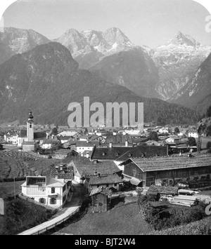 Lofer, Salzburg, Austria, c1900s. Stereoscopic card. Detail. - Stock Photo