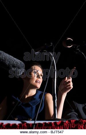 A politician giving a speech - Stock Photo