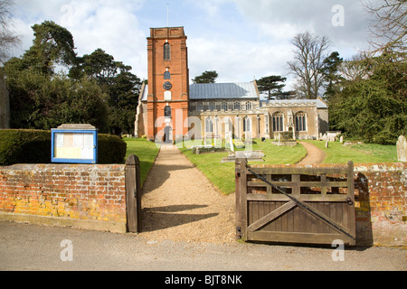 Church of St Mary, Grundisburgh, Suffolk - Stock Photo