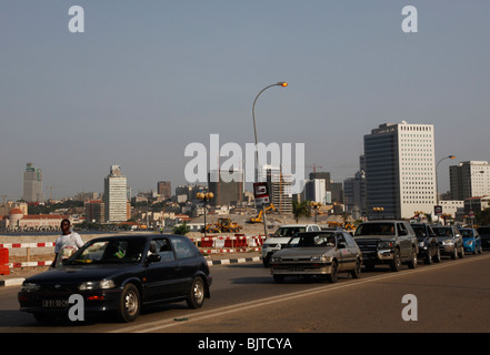 Traffic Jam between the Baixa area and the Ilha, Central Luanda, Angola. Africa. © Zute Lightfoot www.lightfootphoto.com - Stock Photo