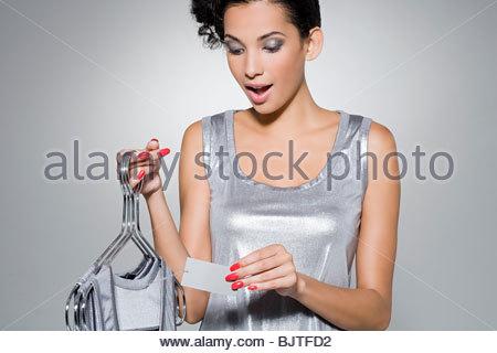 Woman clothes shopping - Stock Photo