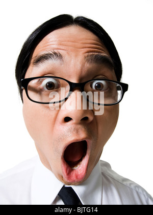 Office worker caught with pants down - Stock Photo
