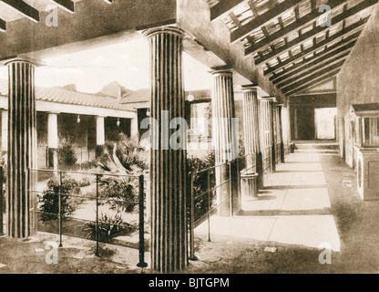 Casa degli Amorini Dorati, Pompeii, Italy, c1900s. Artist: Unknown - Stock Photo
