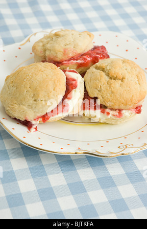 Plate of scones - Stock Photo