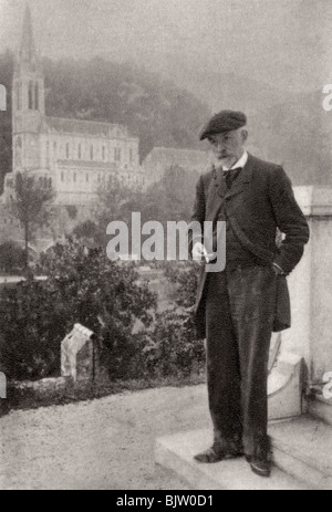 Joris-Karl Huysmans, French novelist, 1900. Artist: Unknown - Stock Photo