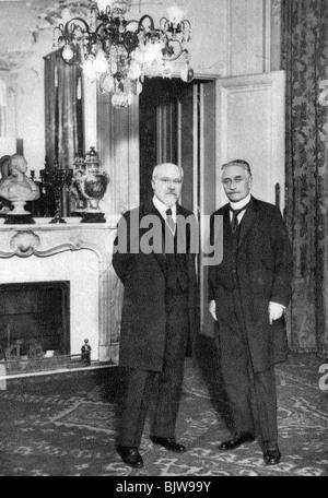 Raymond Poincare, French politician, 1920. Creator: Unknown. - Stock Photo