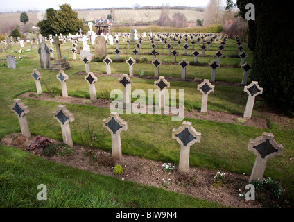 Pre 1940 Naval burial ground cemetery, with many graves and memorials from HMS Ganges, Shotley, Suffolk - Stock Photo