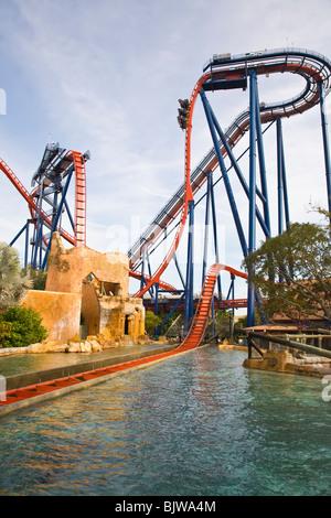 ... Sheikra Coaster At Busch Gardens In Tampa Florida   Stock Photo
