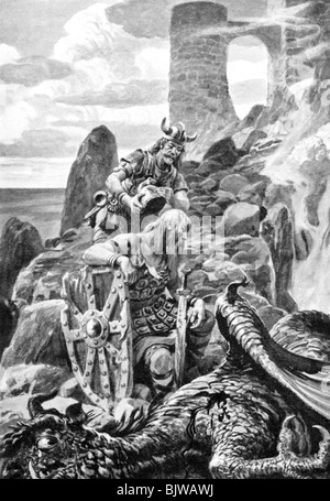 the oldest english epic beowulf a -- the epic poem beowulf, written in old english, is the earliest existing germanic epic and one of four surviving anglo-saxon manuscripts although beowulf was written by an anonymous.