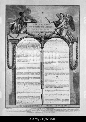 geography / travel, France, revolution 1789 - 1799, 'Declaration des, Additional-Rights-Clearances-NA - Stock Photo